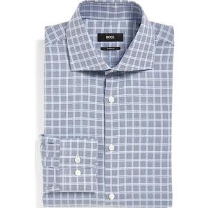 BOSS HUGO Miles Sharp Fit Dress Shirt   US L 17.5